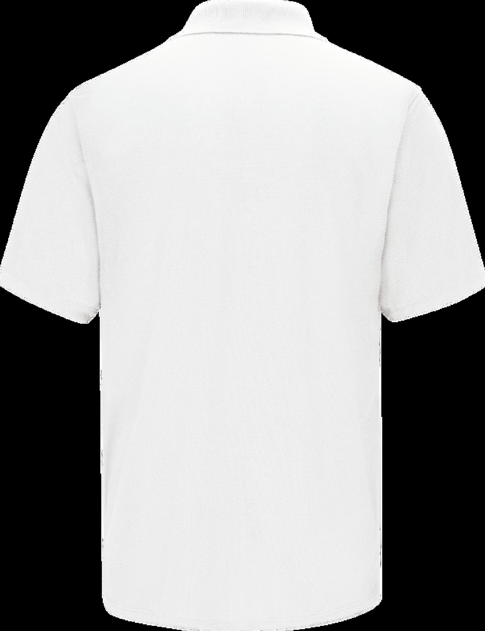 Men's Short Sleeve Spun Polyester Gripper-Front Polo