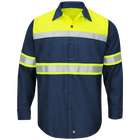 Hi-Visibility Long Sleeve Color Block Ripstop Work Shirt -Type O, Class 1