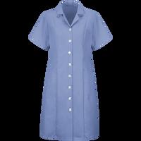 Women's Button-Front Short Sleeve Dress
