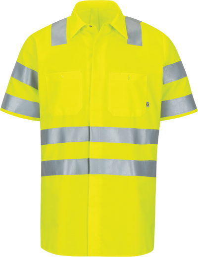 Short Sleeve Hi-Visibility Ripstop Work Shirt with MIMIX™ + OilBlok, Type R Class 3