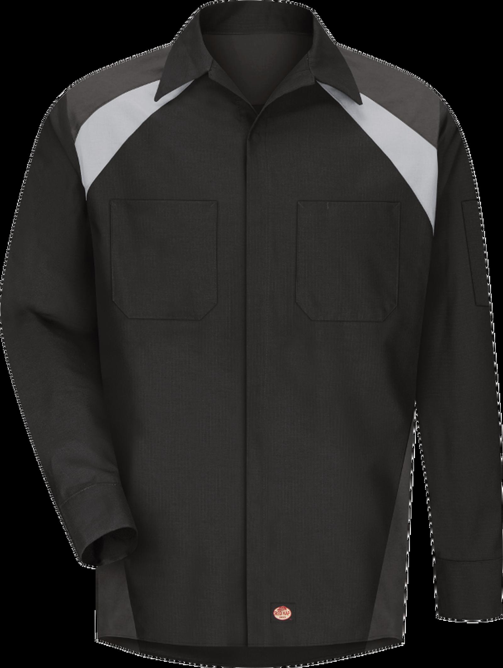 Men's Long Sleeve Tri-Color Shop Shirt