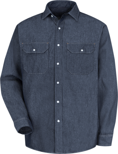 Men's Long Sleeve Deluxe Denim Shirt
