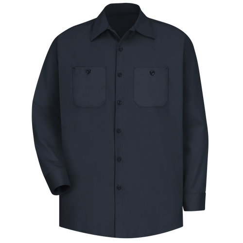 Men's Long Sleeve Wrinkle-Resistant Cotton Work Shirt