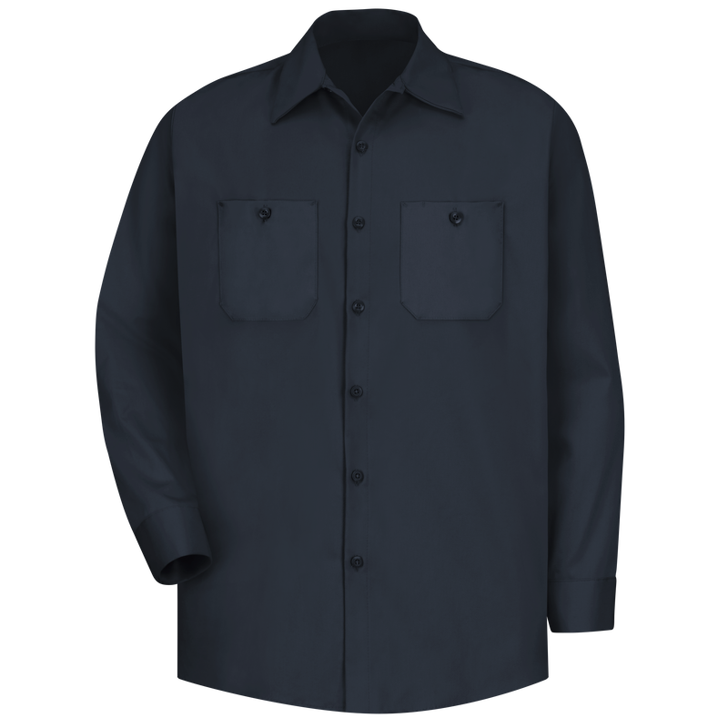 Men's Long Sleeve Wrinkle-Resistant Cotton Work Shirt