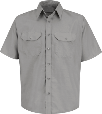 Men's Short Sleeve Solid Dress Uniform Shirt
