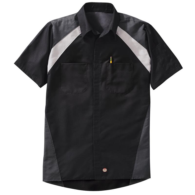 Men's Short Sleeve Tri-Color Shop Shirt